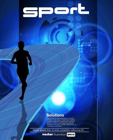 Runner sport illustration Vector