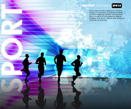 sprinting: Runners