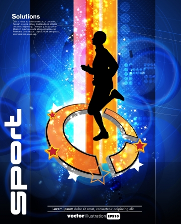 competitive sport: Runner sport illustration