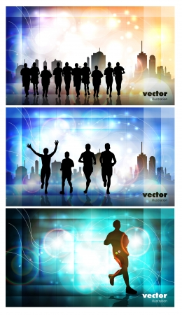 Marathon  Sport illustration Ilustracja