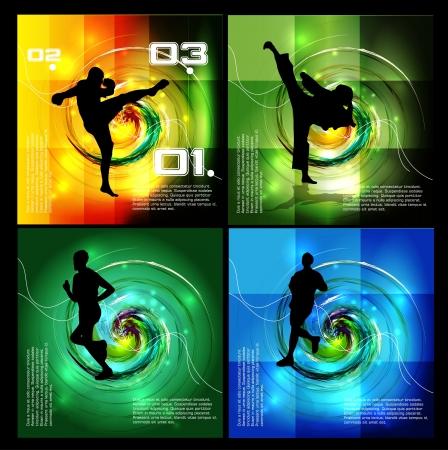 tae: Karate ilustraci�n