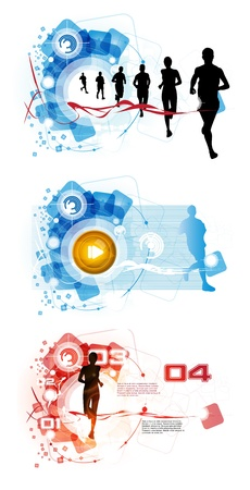 sports background: Sport illustration