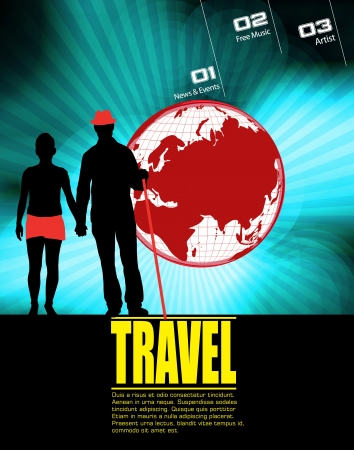 Travel illustration Vector
