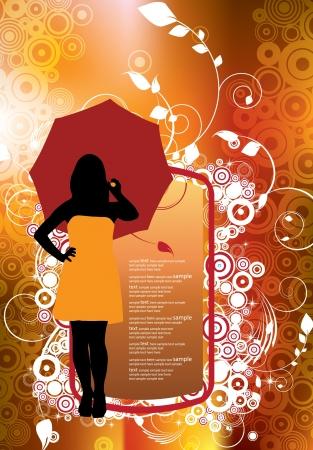 elegancy: Fashion girl.  Illustration