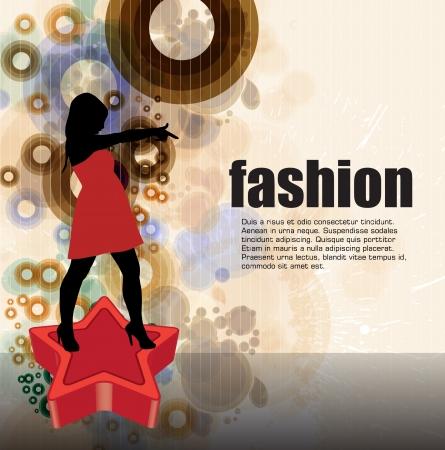 elegancy: Fashion woman Illustration