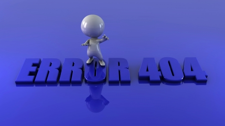 3d man with word error Stock Photo - 15534526