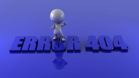 3d man with word error Stock Photo - 15534526