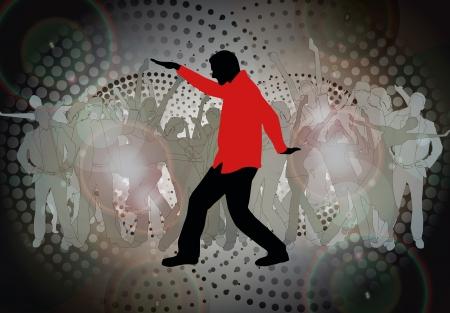Dancing people photo