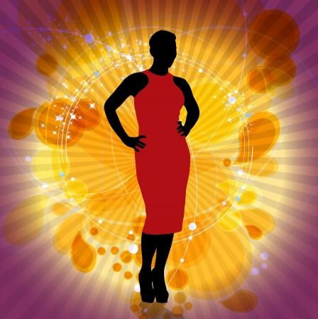 elegancy: Fashion woman Stock Photo
