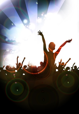 Music event illustration illustration