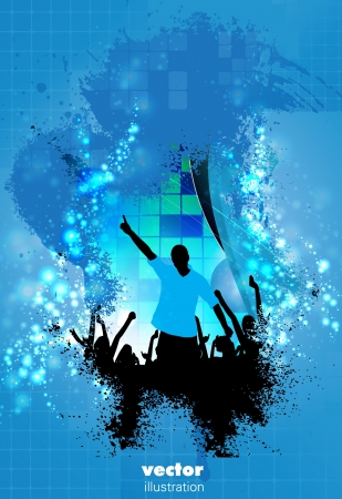 Concert poster  Vector illustration  Vector