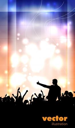 Concert illustration  Dancing people Vector