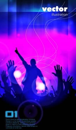 Concert illustration  Dancing people Vector