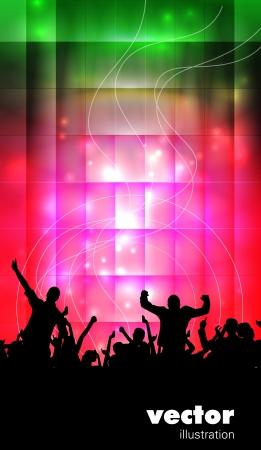 fiestas discoteca: Concierto gente ilustraci�n Baile