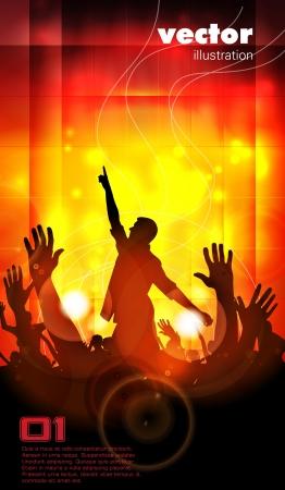 Concert illustration  Dancing people