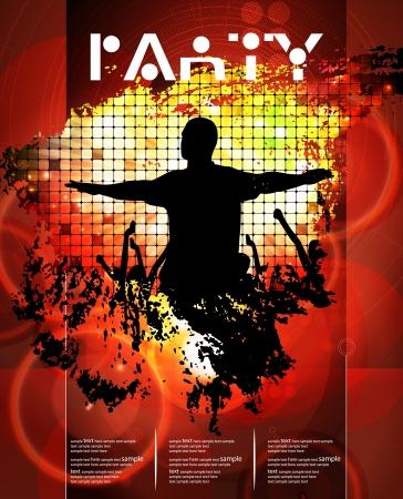 nightclub flyer: Dancing people