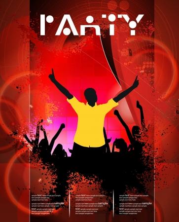 Dancing people  Stock Vector - 15604102