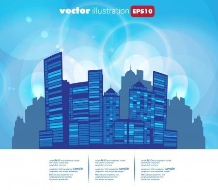 City Landscape Stock Vector - 15604079