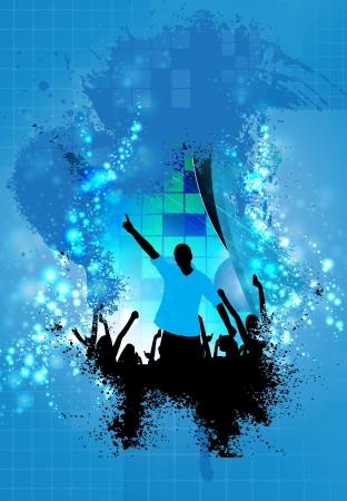 Music event illustration Stock Illustration - 15850741