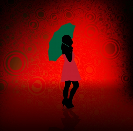 Beautiful woman silhouette photo