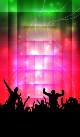 Dancing people  Concert illustration  Zdjęcie Seryjne