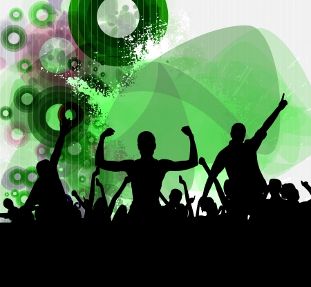 People dancing background party Stock Vector - 15850914