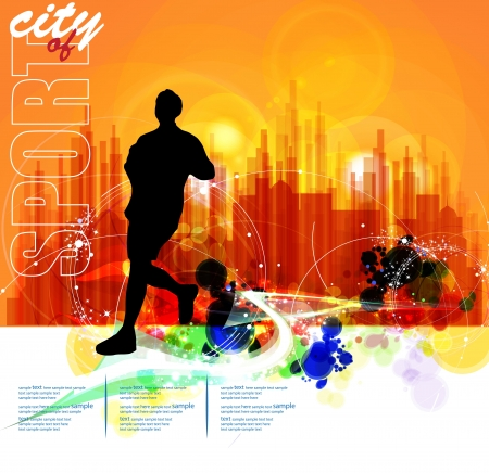 Illustration of sport  Marathon  Vector