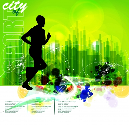 Illustration of sport  Marathon  Ilustracja