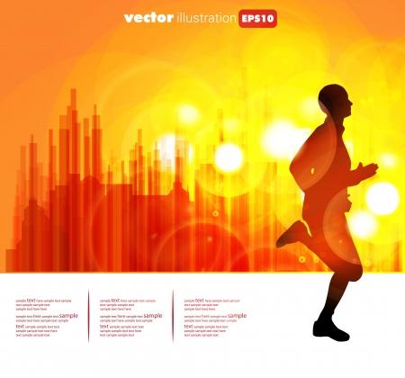 Sport vector illustration Illusztráció