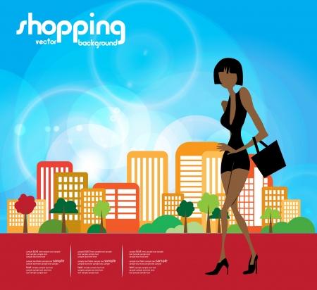 shoppingbag: Shopping woman