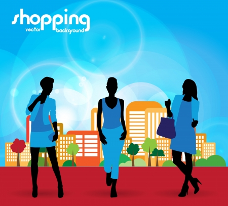 shoppingbag: Fashion women Illustration