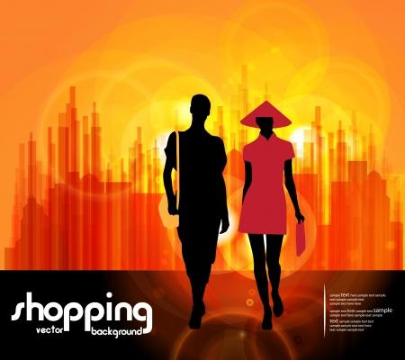 shoppingbag: Shopping women Illustration