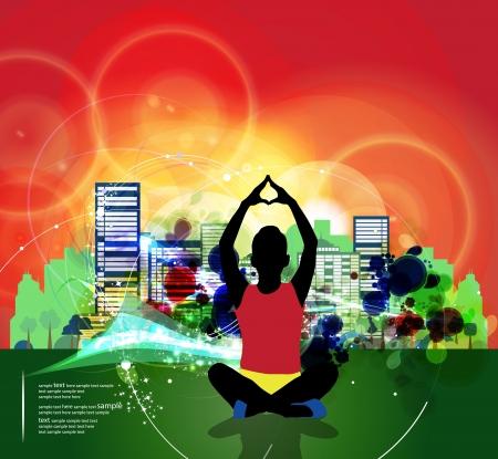 Traditional yoga pose Stock Vector - 16953484