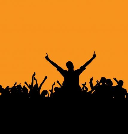 nightclub crowd: Concert  illustration Illustration