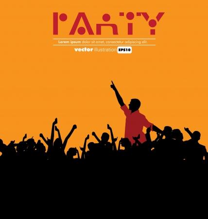 youths: Concert  illustration Illustration