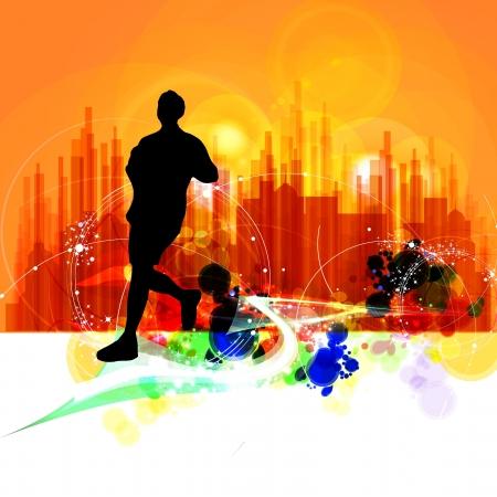 Marathon illustration illustration