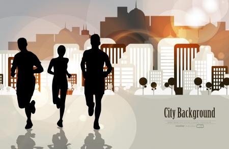 atleta corriendo: Sport ilustraci�n