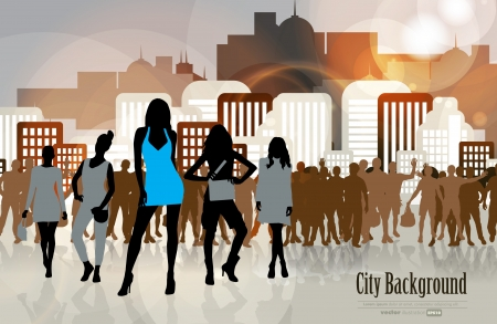 Business city Stock Vector - 15741732