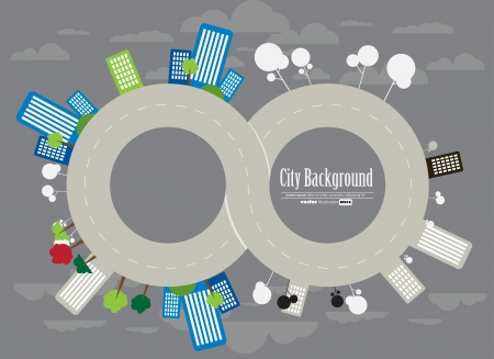 infinity road: Urban landscape Illustration
