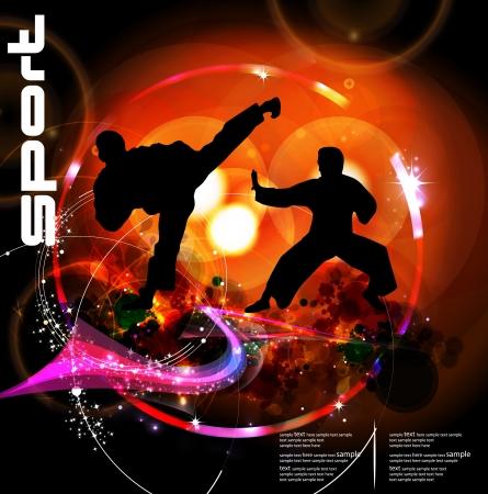 tae: Karate Ilustraci�n de deporte Vectores