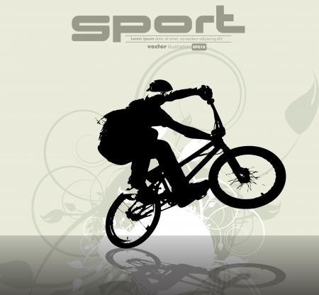 BMX cyclist  Ilustracja