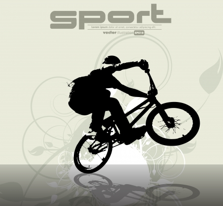 Cycliste BMX