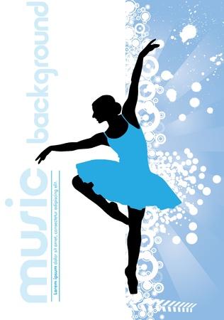 ballet dancing: Balletto Danza Illustrazione vettoriale