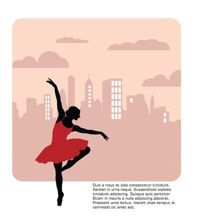 dancers: Ballet  Dancing illustration  Vector
