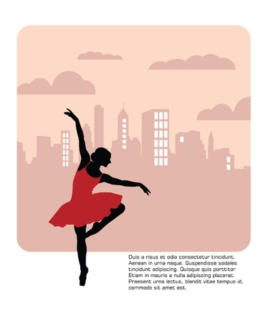 t�nzer silhouette: Ballett-Tanzen illustration Vector