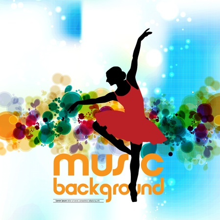 Ballet  Dancing illustration  Vector  Stock Vector - 15741782