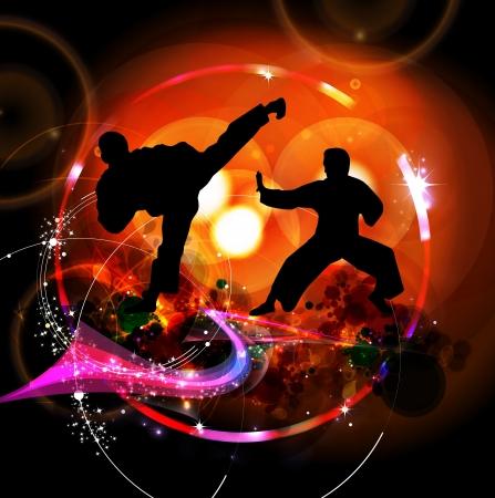 karate: Sport karate illustration Stock Photo