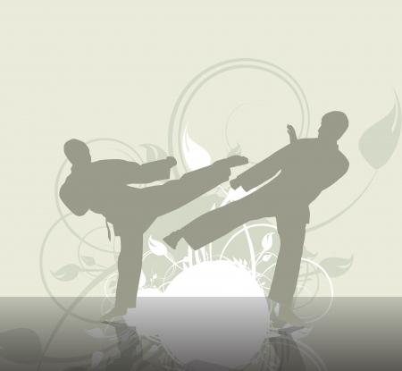 kyokushin: Sport karate illustration