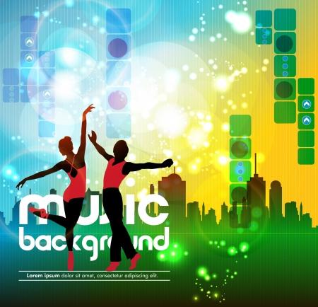 lyrical dance: Ballet  Vector illustration Illustration