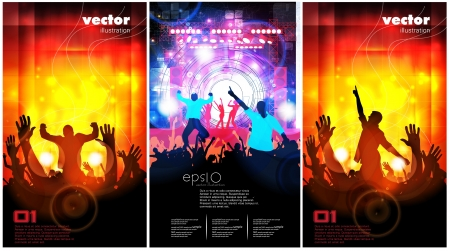 Music event illustration set Vector